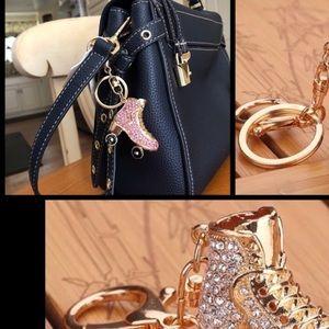 Pretty Girl Swag Jewelry Accessories - ♨️Sale Rhinestone Studded Roller-Skate Keyring Fob